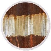 Rust 04 Round Beach Towel