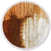 Rust 05 Round Beach Towel