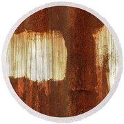 Rust 06 Round Beach Towel
