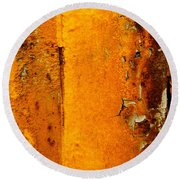 Rust Abstract 2 Round Beach Towel