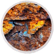 Rust Abstract 9 Round Beach Towel