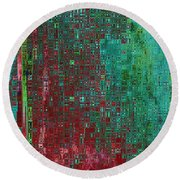Rust Abstract Round Beach Towel