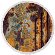 Rust Abstract Car Part Round Beach Towel