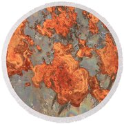 Rust Art Round Beach Towel