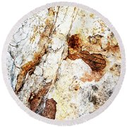 Rust Colored Limestone Rock Round Beach Towel