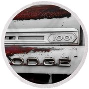 Rust Dodge 6 Selective Color Round Beach Towel