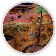 Rusted Beauty Round Beach Towel
