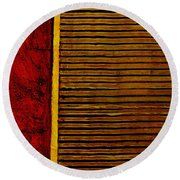 Rustic Abstract One Round Beach Towel