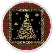Rustic Christmas-jp3697 Round Beach Towel