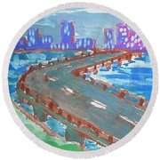 Rustic-city Round Beach Towel