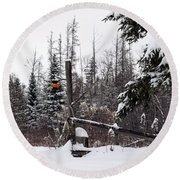 Rustic Property Marker Round Beach Towel
