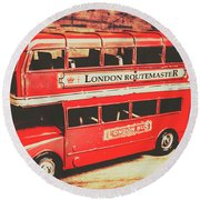 Rustic Routemaster Round Beach Towel