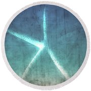 Rustic Starfish Round Beach Towel