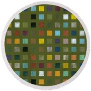 Rustic Wooden Abstract Lx Round Beach Towel