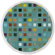 Rustic Wooden Abstract Vl Round Beach Towel
