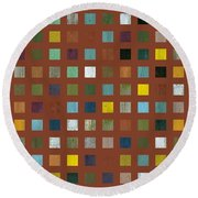 Rustic Wooden Abstract Vll Round Beach Towel