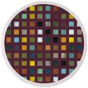 Rustic Wooden Abstract Vlll Round Beach Towel