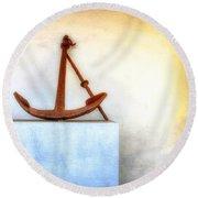 Rusty Anchor Round Beach Towel