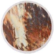 Rusty Drum #1 Round Beach Towel