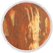Rusty Drum #2 Round Beach Towel