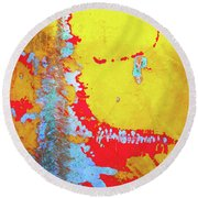 Rusty Expressions Round Beach Towel