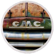 Rusty Gmc Truck Round Beach Towel