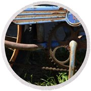 Rusty Old Bicycle . 7d15946 Round Beach Towel
