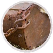 Rusty Old Ore Scoop Round Beach Towel