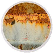 Rusty Peel Round Beach Towel