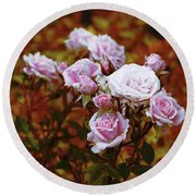 Rusty Romance In Pink Round Beach Towel by Ivana Westin