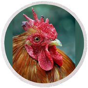 Rusty Rooster Round Beach Towel