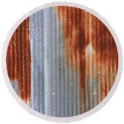 Rusty Siding Round Beach Towel