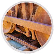 Rusty Wheels  Round Beach Towel
