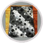 Rusty Winter Round Beach Towel