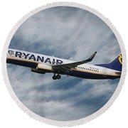 Ryanair Boeing 737 Round Beach Towel