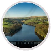 Ryburn Reservoir Round Beach Towel