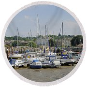 Ryde Harbour Round Beach Towel