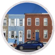 S Baltimore Row Homes - Wide Round Beach Towel