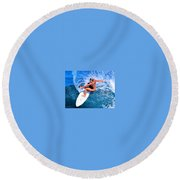 S Brooke Round Beach Towel