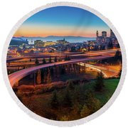 S For Seattle Round Beach Towel