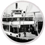 S. P. Ferry Alameda At San Francisco Circa 1940 Round Beach Towel