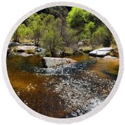 Sabino Creek Round Beach Towel