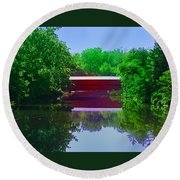 Sachs Covered Bridge - Gettysburg Pa Round Beach Towel