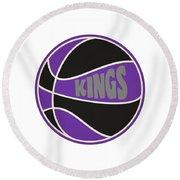 Sacramento Kings Retro Shirt Round Beach Towel