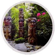 Sacred Forest Round Beach Towel