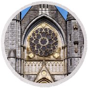 Sacred Heart Church Detail Roscommon Ireland Round Beach Towel