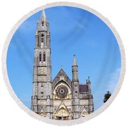 Sacred Heart Church Roscommon Ireland Round Beach Towel