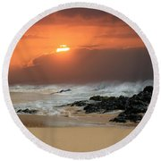 Sacred Journeys Song Of The Sea Round Beach Towel