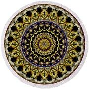 Sacred Mandala Round Beach Towel