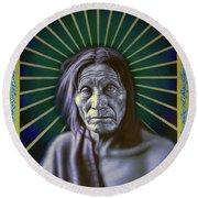 Sacred Native Round Beach Towel